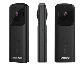 Andoer A360II Handheld 360° VR Video Camera
