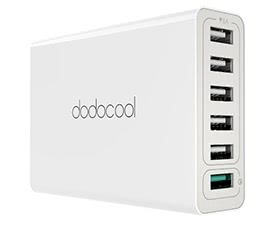 dodocool 58W 6-Port USB Desktop Charging Station with Quick Charge 3.0