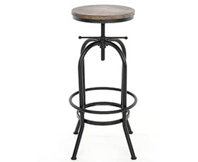 iKayaa Industrial Style Bar Stool