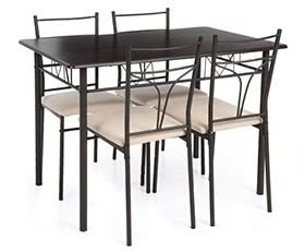 iKayaa 5PCS Kitchen Table Chairs Set