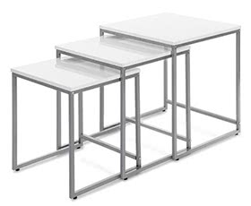 IKAYAA 3PCS Metal Frame Nesting Tables Set