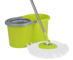 iKayaa Press Type Spin Mop & Bucket Set