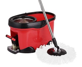 iKayaa Hands-free Stainless Steel Spin Mop & Bucket Set