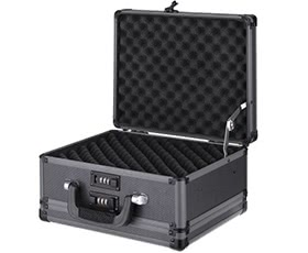 iKayaa Double Sided Aluminum Pistol  Case