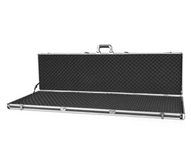 iKayaa Black Aluminum Hard Single Rifle Gun Case
