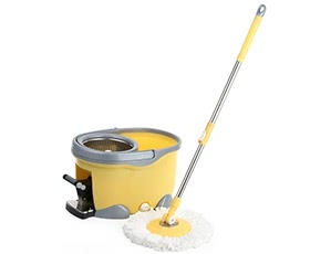 iKayaa Hands-free 360°Rotating Spin Mop Bucket Set