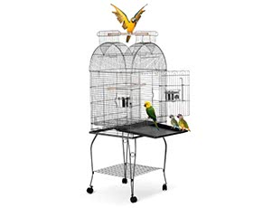 iKayaa Wrounght Iron Bird Parrot Cage