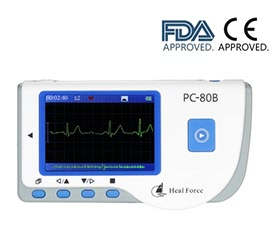 Heal Force Medical Portable ECG EKG Monitor