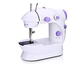 Anself Mini Household Purple Electric Sewing Machine