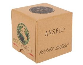 Anself Mini Square Cardboard Watch Box