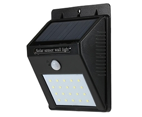 20LEDs Solar-powered PIR Wall Light