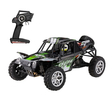 WLtoys 18429 2.4G 1:18 Scale 4WD Splashing Waterproof Electric RTR Desert Buggy RC Car