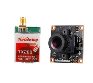 Turbowing TX200 200mW/20mW FPV Transmitter 5.8G 40CH with 900TVL Camera