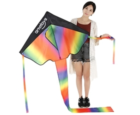 Ametoys 206cm*110cm Large Size Huge Rainbow Kite