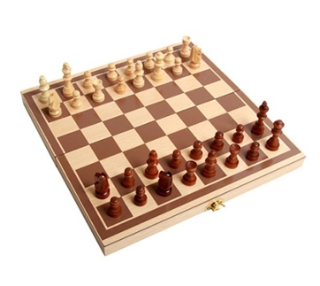 Wooden Chess Toys Set Wooden Puzzle Chess Folding