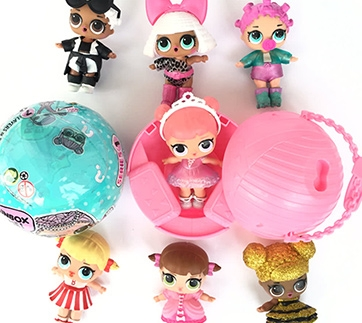 Ball Toy Outrageous 7 Layers Surprise Set One Egg Doll Blind Mystery