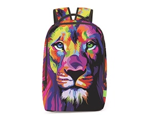 Fashion 3D Animals Lion Pattern Printed Backpack