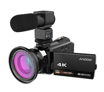 Andoer 4K 1080P 48MP WiFi Digital Video Camera