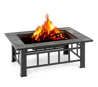 iKayaa Metal Garden Backyard Fire Pit