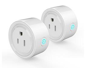 2Pack Smart Wi-Fi Mini Outlet Plug
