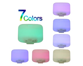 500ML 7Colors Ultrasonic Essential Oil Aroma Humidifier