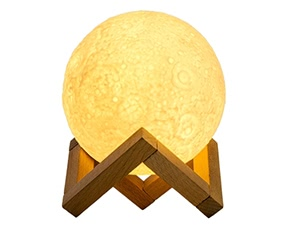 LED Rechargeable Dimmable Moon Shadow Night Light