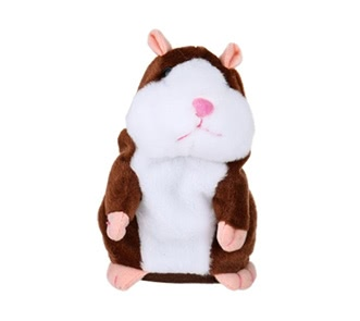 Electric Smart Little Talking Hamster Record Repeat Stuffed Plush Animal Kids Doll