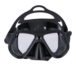Goggles Swimming Face Mask with Bracket Mount