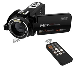 Andoer HDV-Z20 Portable Digital Zoom Camcorder with Remote Control