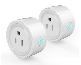 2Pack Smart Wi-Fi Mini Outlet Plug Switch