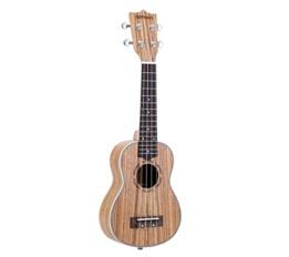 """ammoon Zebrawood 21"""" Acoustic Ukulele 15 Fret 4 Strings Stringed Musical Instrument"""