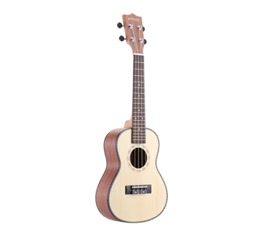 "ammoon 24"" Spruce Sapele Ukulele Rosewood Fretboard 4 Strings Musical Instrument New Year's Day Gift Present"