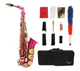 LADE Brass Engraved Eb E-Flat Alto Saxophone Sax