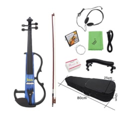 Full Size 4/4 Electric Violin Fiddle Maple Wood Stringed Instrument