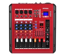 ammoon PMR406 4-Channel Digital Audio Mixer Mixing Console for Recording DJ Stage Karaoke
