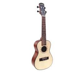 Andoer 24'' Compact Ukelele Ukulele Hawaiian Spruce Top Mahogany Back Aquila Rosewood Fretboard Bridge Concert Stringed Instrument 4 Strings