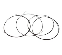 Alice AU02 4pcs Ukulele String Black Nylon Set