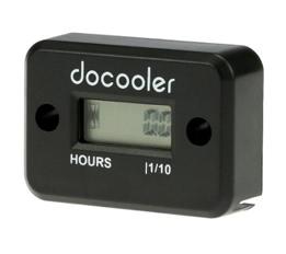Docooler Digital Hour Meter Gauge LCD for Gasoline Engine Racing Motorcycle ATV Mower Snowmobile 0.1/99999Hrs Black
