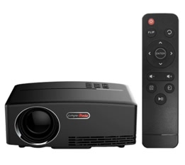 GP80 LED Projector 1080P 1800 Lumens 800 * 480 Pixel 2200:1 Contrast Ratio