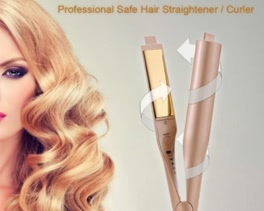 Fashionable 2-In-1 Straightening Curling Iron