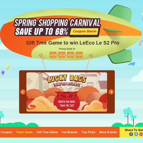 Save Up To 68% 2018 Before Spring Shopping Carnival on Tomtop