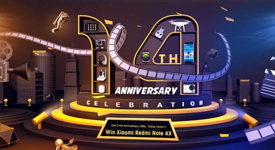 Tomtop 14th Anniversary Celebration Countdown