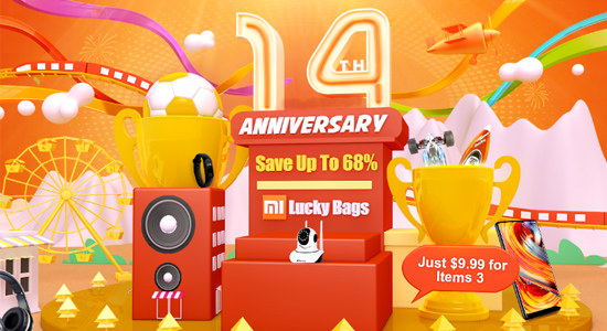 Tomtop 14th Anniversary Celebration Big Deals, Save Up to 68% Off