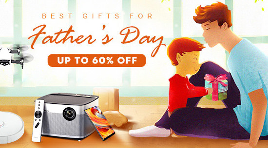 Up to 60% Off Happy 2018 Father's day,Pick the Best Gifts for Father On Tomtop