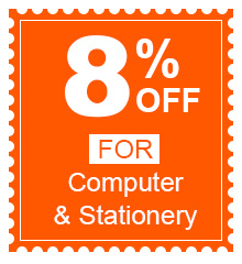 8% Off For Computer & Stationery