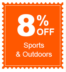 8% Off Sports & Outdoors
