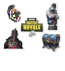 Fortnite Night Game Sticker