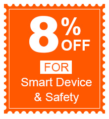 8% Off For Smart Device & Safety