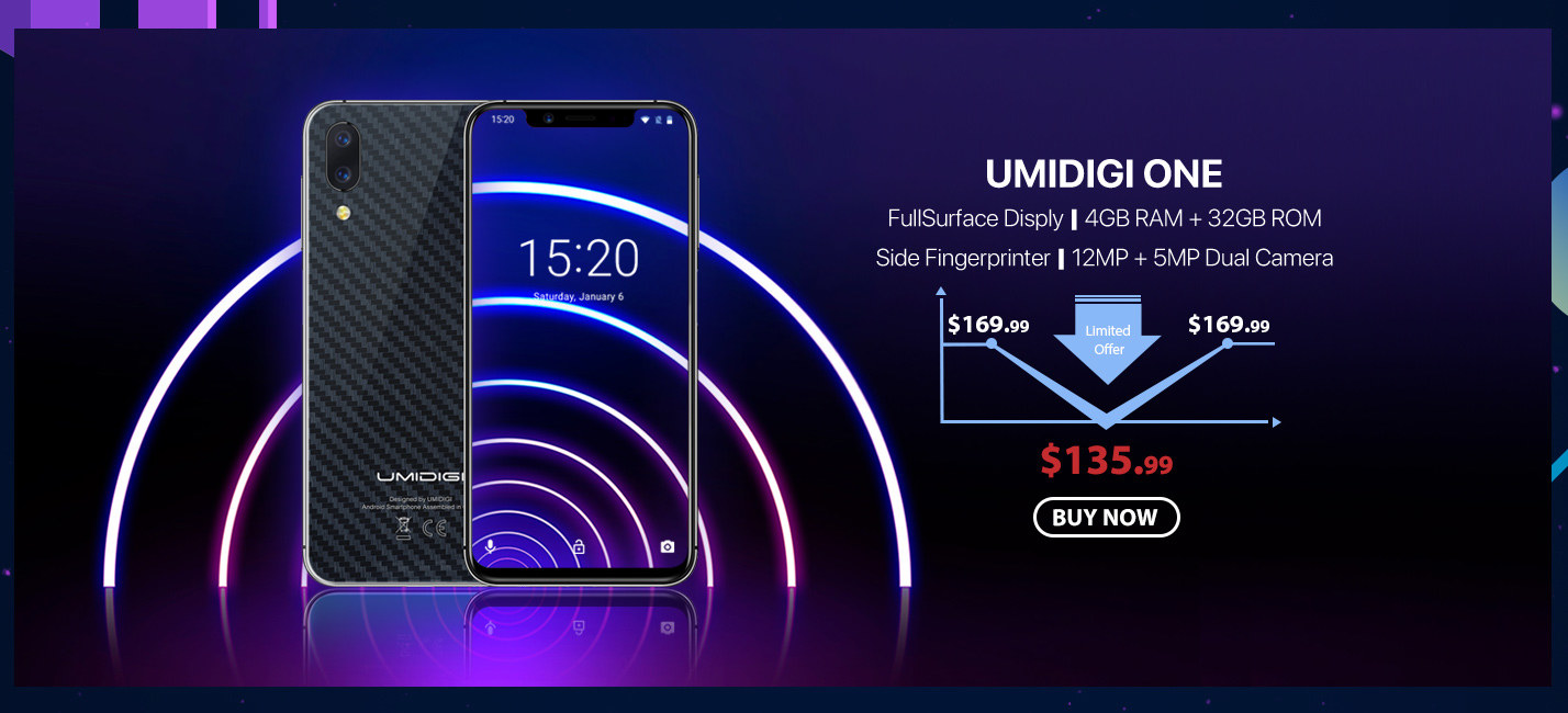 UMIDIGI One 4GB RAM 32GB ROM Global Bands