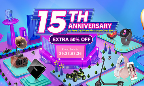 Tomtop 15TH Anniversary: Get Extra 20% O